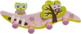 Bieco Kindergarderobe Eule mit 4 Haken ca. 28 cm